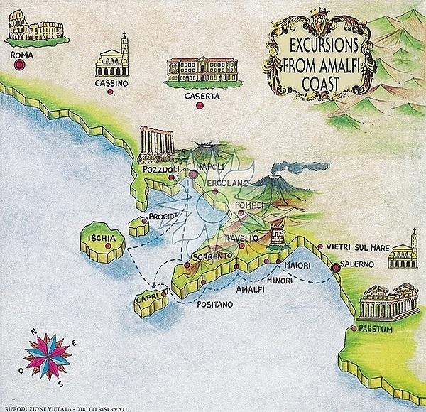Maiori Italy Map.Sunland Travel And Accommodation Amalfi Coast Travel Agents In